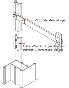 Compas pour menuiserie aluminium compas en aluminium anodis dimensions du bras 200 x 15 x for Dimension menuiserie alu