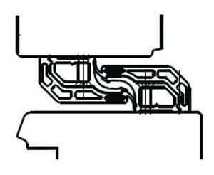 profil d 39 tanch it alu pour jeu de 28 mm avec embout longueur 2400 mm fec7269. Black Bedroom Furniture Sets. Home Design Ideas