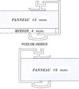 placardecor joint brosse on quipe le profil poign e horizontal haut du joint brosse sur ses 2. Black Bedroom Furniture Sets. Home Design Ideas