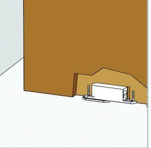 Pivot pour porte d 39 int rieur d 39 paisseur 40 mm pivot - Porte interieur epaisseur 30 mm ...