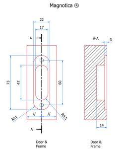 Pivot pour porte d 39 int rieur d 39 paisseur 40 mm loqueteau - Porte interieur epaisseur 30 mm ...