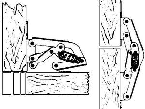 charni re invisible charni re ressort pour porte recouvrement acier zingu sans per age sil060. Black Bedroom Furniture Sets. Home Design Ideas