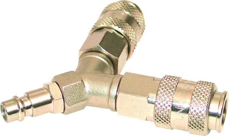 Wanddose à air comprimé embrayage nw7 2 raccord rapide en laiton de distribution 1-2-3 fois