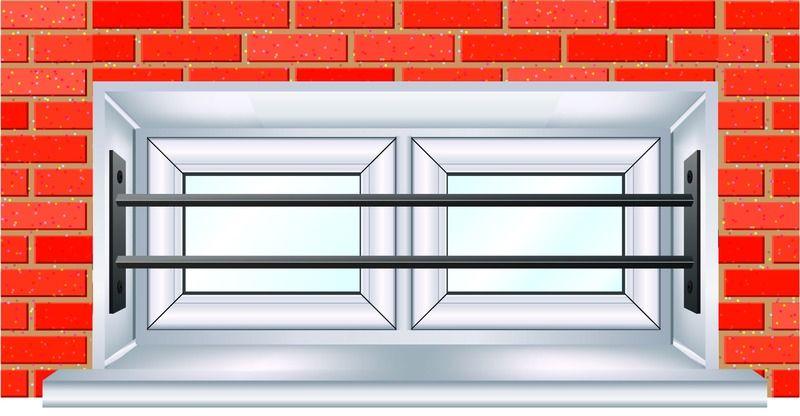 Grille De Défense Télescopique Pour Fenêtre Pour Une Fenêtre De 26 à
