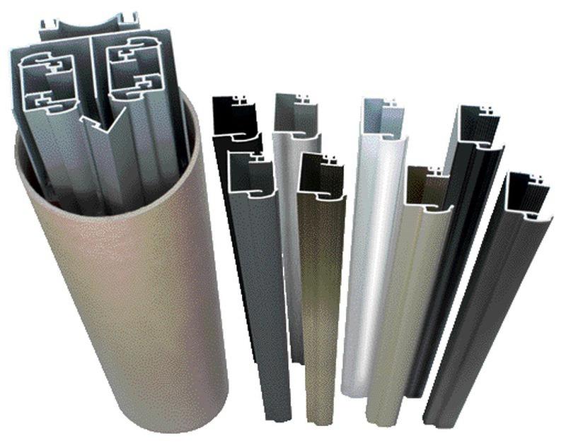 kit profil pour porte de placard coulissante Kit placard profil poignée KLD pour façade 2 vantaux, anodisé argent,  hauteur 2550 mm, largeur 3000 mm