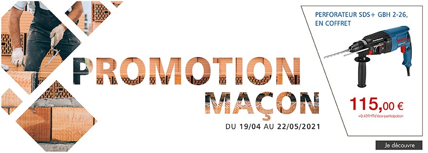 Promotion maçon du 19/04/2021 au 22/05/2021