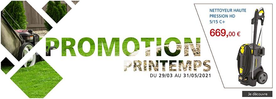 Promotion printemps du 29/03/2021 au 31/05/2021