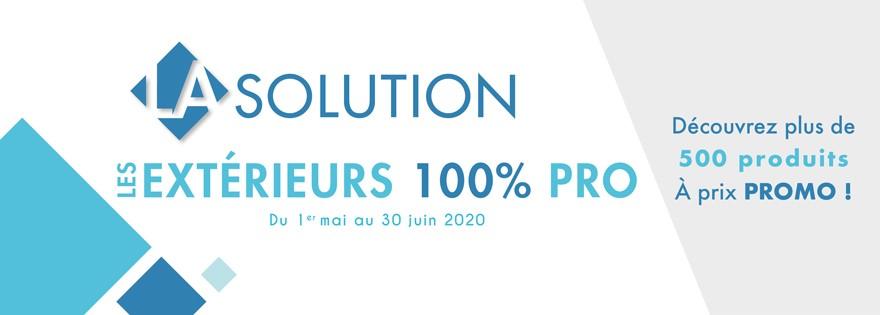 La solution les extérieurs 100% pro