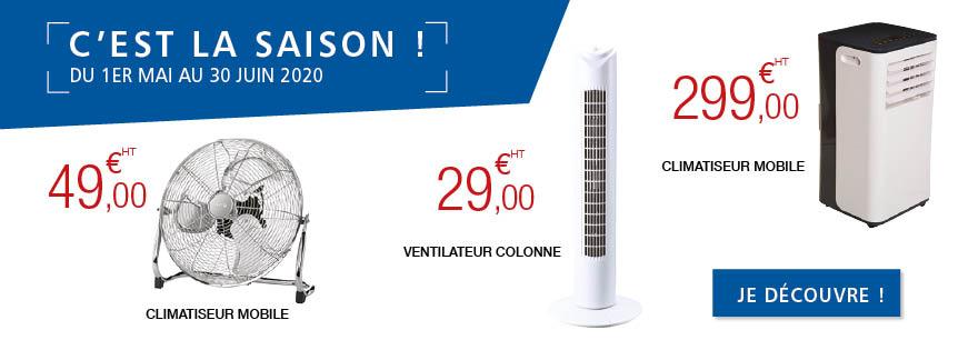 C'est la saison : climatiseur et ventilateur